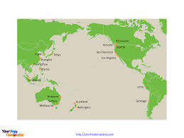 pusan on map free pacific editable map free powerpoint templates