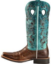 twisted x s boots twisted x ruff stock turquoise embroidered boots square