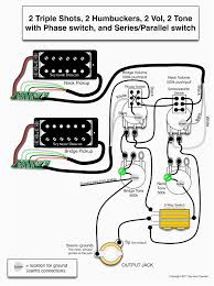 wiring diagram for 2 humbuckers tone volume 3 way switch i e