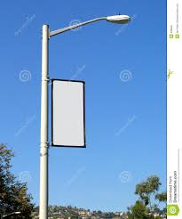 Street Lights For Sale Blank Banner On Light Post Stock Photography Image 308032