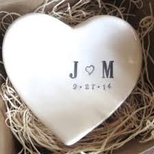 wedding ring holder promisepottery mr and mrs wedding ring dish ring holder gift