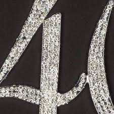 40 cake topper 40 cake topper silver rhinestone metal number decoration