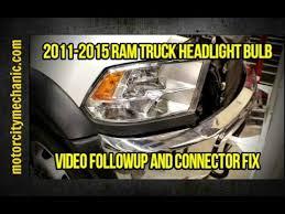 2011 dodge ram 1500 headlight bulb 2011 2015 ram truck headlight bulb followup and connector