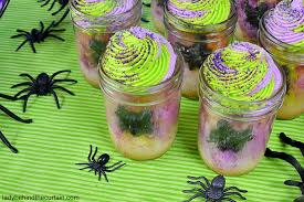 Halloween Cupcakes In A Jar by Halloween Marble Cake In A Jar