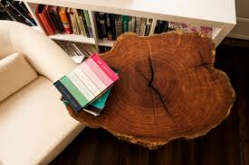 diy mesquite tree slice table
