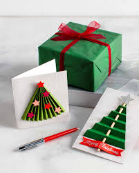 diy 3 d christmas tree cards martha stewart