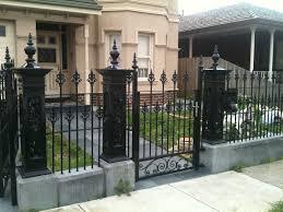 front fences melbourne front yard fencing front garden fencing