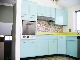 granite countertops retro metal kitchen cabinets lighting flooring
