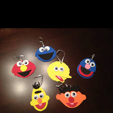 sesame character ornaments diy ideas