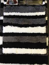 Modern Bathroom Rugs 2 Microfiber Bath Rug Set Modern Stripe Pattern