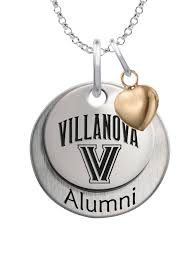 alumni chain wildcats alumni necklace with heart accent