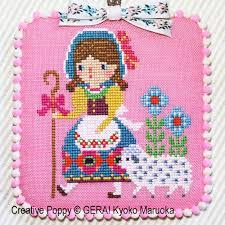 gera by kyoko maruoka bo peep cross stitch pattern