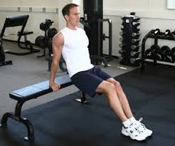 Triceps Bench Dips Triceps Bench Dips With Feet On Floor