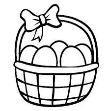 easter egg basket easter egg basket coloring page netart