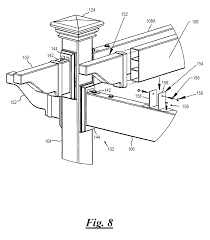 Pergola System by Patent Us8640420 Pergola System Google Patenti