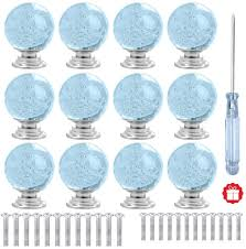 light blue kitchen cupboard doors anjuu 12 pcs 30mm shape glass cabinet knobs with screws drawer knob pull handle used for kitchen dresser door cupboard light