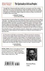 the spirituality of african peoples peter j paris 9780800628543