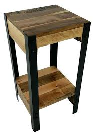 rustic wood side table small rustic side table elephant end table display end table small