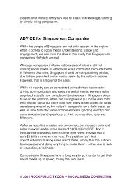 Resume Example Singapore by 2012 Singapore Social Media Study By Rockpublicity Com