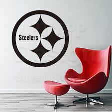 steelers home decor art design cheap vinyl home decoration pittsburgh steelers logo