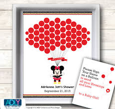 minnie mouse guest book printable alternative and