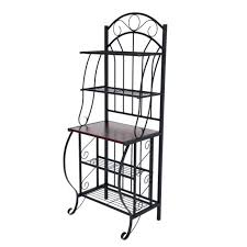 Patio Bakers Rack Furniture Theater Entertainment Panel White Gloss Traditional