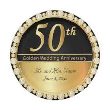 50th anniversary plate personalized custom wedding anniversary plates