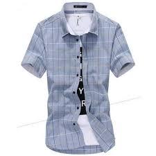 summer men short sleeve plaid shirts men u0027s casual slim fit cotton