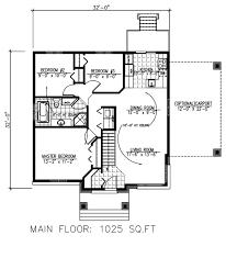 modern style house plan 3 beds 1 00 baths 1025 sq ft plan 138 382