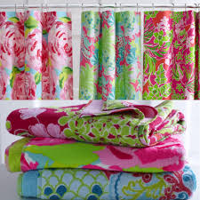 Gorgeous Shower Curtain by Lilly Pulitzer Home Collection For Garnet Hill Shower Curtain