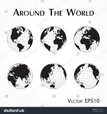 World Map With Longitude And Latitude Lines by Around World Outline World Map Latitude Stock Vector 488554873