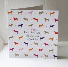 Invitation Cards Party Horse U0026 Pony Party Invitation U0026 Place Card By The Wild Partridge