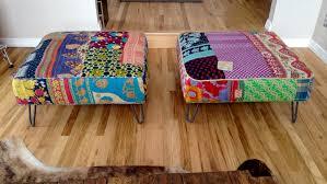 Upholstered Ottomans Upholstered Ottomans With Hair Pin Legs Modern Legs