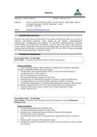 Noc Resume Sample by Noc Engineer Resume India Virtren Com