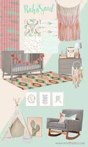 Bohemian Baby Bedding Sets Nursery Beddings Boho Baby Crib Bedding In Conjunction With