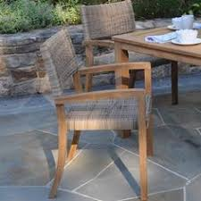 Venice Outdoor Furniture by Kingsley Bate Venice Wicker And Wainscott Teak 5 Piece Dining