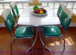 How To Restore A S Chrome Kitchen Table  Chairs Description - Retro formica kitchen table
