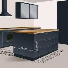 hauteur ilot central cuisine taille ilot central cuisine concept moderne comment fabriquer un lot