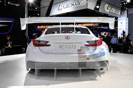 lexus rc f exhaust lexus rc f gt3 racer debuts in detroit will race in u s by 2016