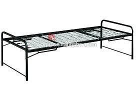 strong single military stackable metal bed frame single folding