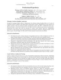 Quality Assurance Analyst Resume Quality Assurance Resume Examples Resume Example And Free Resume