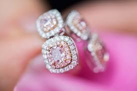 pink diamond earrings h y jewellery fancy pink diamond earrings review gemologue