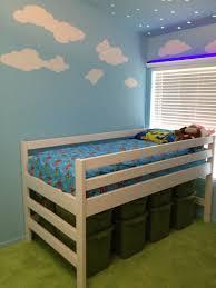 ana white mini camp loft bed with underneath storage diy