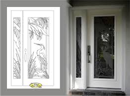 Etched Glass Exterior Doors Wonderful Frosted Glass Front Doors With Etched Glass Tropical