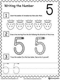 learn to count and write number 5 kindergarten count and learning