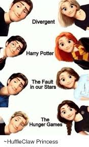 The Fault In Our Stars Meme - divergent harry potter the fault in our stars the hunger games