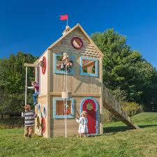 two story outdoor playhouse outdoor designs