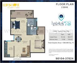 Floor Plan Flat by Flats In Sector 78 Faridabad Conscient Affordable 2 3 Bhk Flats