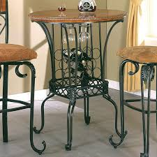 pub table with wine rack bar table 35 round with wine storage alyssa by crown mark