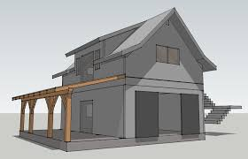 Loft Garage Plans by Opossum Creek Cabin A Timber Frame Garage Timber Frame Garage